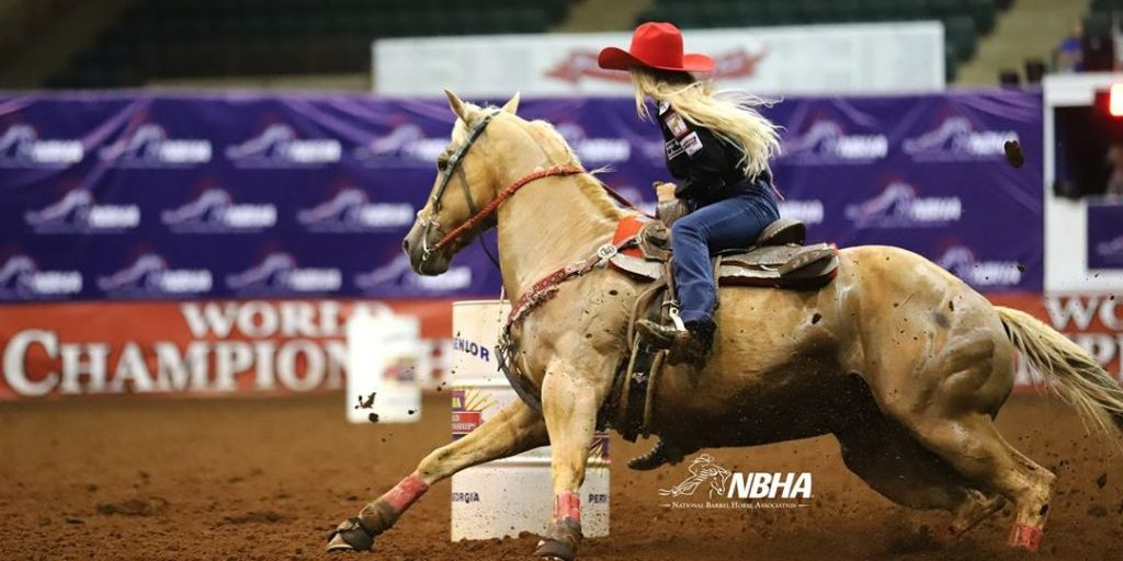 """Not making the Southern Rodeo Association finals turned out to be a big blessing. I found myself at the National Barrel Horse Association Open World Championship, where """"H2"""" and I won the Sweepstakes, the first round, the fastest-time buckle and the finals. Photo by Tammy Sronce."""